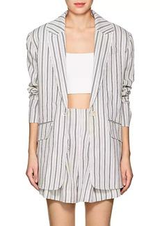 Zimmermann Women's Striped Linen Oversized Blazer