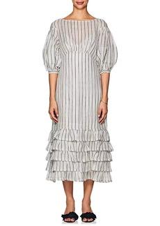 Zimmermann Women's Striped Linen-Silk Midi-Dress
