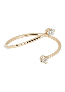 Zoë Chicco Open Bypass Diamond Stacking Ring