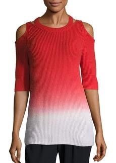 Zoë Jordan Aristotle Ombré Cold-Shoulder Sweater