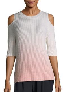 Zoë Jordan Dias Ombré Cold-Shoulder Sweater
