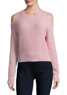 Zoë Jordan Galen Cold-Shoulder Crop Sweater
