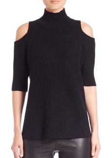 Zoë Jordan Knitlab Gondola Cold-Shoulder Turtleneck Sweater