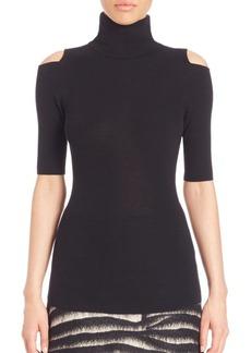 Zoë Jordan Perey Cold-Shoulder Turtleneck Sweater
