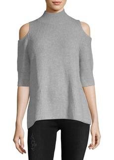 Zoë Jordan Turtleneck Cold-Shoulder Sweater