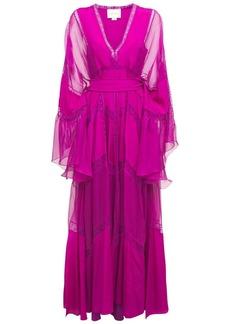 Zuhair Murad Crepe De Chine & Lace Caftan Dress