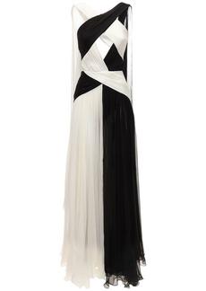 Zuhair Murad Crossed Neck Silk Chiffon Gown