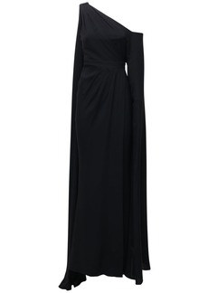 Zuhair Murad Draped Light Cady Dress