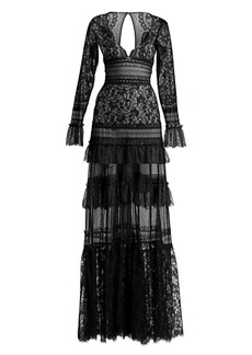 Zuhair Murad Flamenco Lace Gown