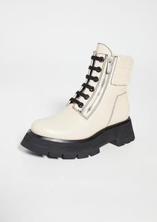 3.1 Phillip Lim Kate Lug Sole Double Zip Shearling Boots