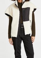 3.1 Phillip Lim Sherpa Bonded Cocoon-Back Vest