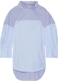 3.1 Phillip Lim Woman Paneled Striped Cotton-blend Poplin Tunic Light Blue