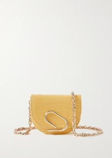 3.1 Phillip Lim Alix Mini Lizard-effect Patent-leather Shoulder Bag