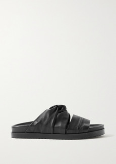 3.1 Phillip Lim Knotted Leather Slides