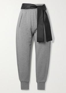 3.1 Phillip Lim Satin-trimmed Cotton-jersey Track Pants