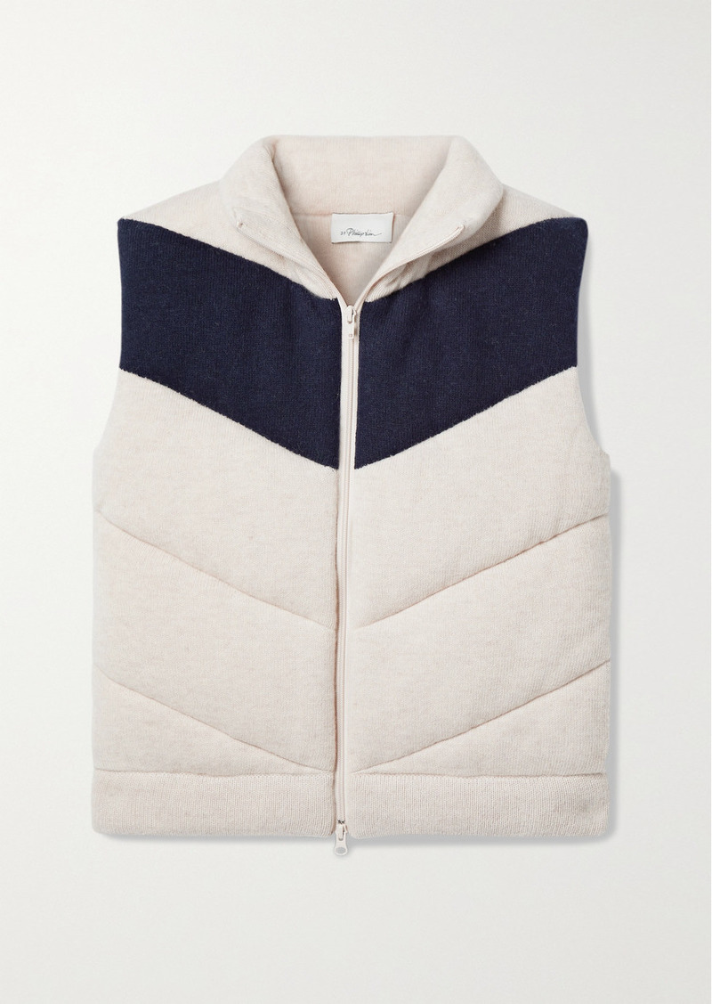 3.1 Phillip Lim Two-tone Quilted Wool-blend Vest