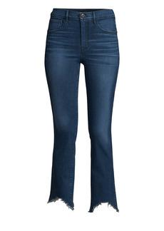 3x1 Eleta Authentic Mid-Rise Straight-Leg Cropped Jeans