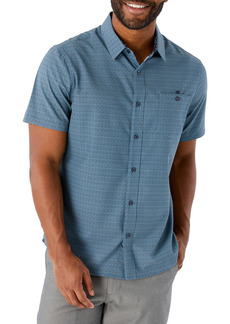 7 Diamonds None But the Brave Short Sleeve Button-Up Stretch Blend Shirt