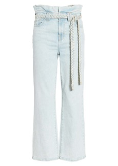 7 For All Mankind® Alexa Paperbag Waist Crop Wide Leg Jeans (Grand Street)