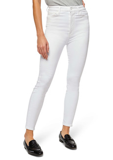 7 For All Mankind® Aubrey Ultra High Waist Ankle Skinny Jeans (Slim White)