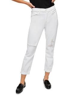 7 For All Mankind® Josefina Distressed High Waist Boyfriend Jeans