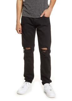 7 For All Mankind® Paxtyn Ripped Skinny Fit Jeans (Black Destroy)
