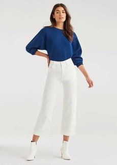 7 For All Mankind Cropped Alexa Vintage Cord in Ivory