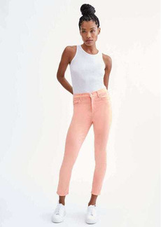 7 For All Mankind High Waist Ankle Skinny in Solid Bright Coral