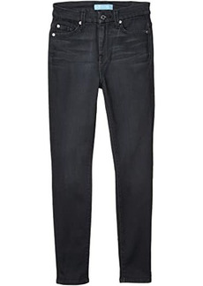 7 For All Mankind High-Waisted Ankle Skinny Jeans in b(air) Evening Grey