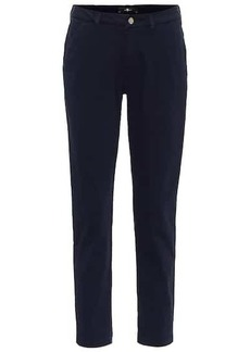7 For All Mankind Mid-rise stretch-cotton slim chinos
