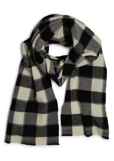 Acne Studios Cassiar Check Logo Wool Scarf