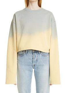 Acne Studios Fabini Sprayed Crop Sweatshirt