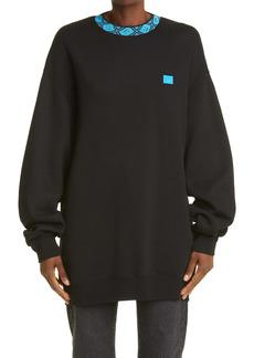 Acne Studios Future Rib Face Oversize Sweatshirt