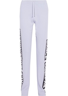 Acne Studios Woman Fella Printed French Cotton-terry Track Pants Light Blue