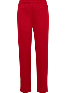 Acne Studios Woman Norwich Face Grosgrain-trimmed Jersey Track Pants Red