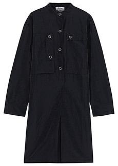 Acne Studios Woman Sateen Shirt Dress Black