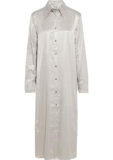 Acne Studios Woman Dimara Satin Midi Shirt Dress Stone