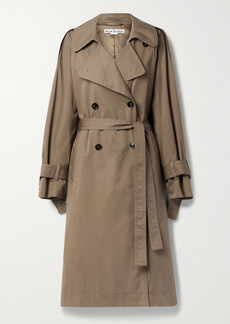 Acne Studios net Sustain Belted Double-breasted Organic Cotton-blend Gabardine Trench Coat