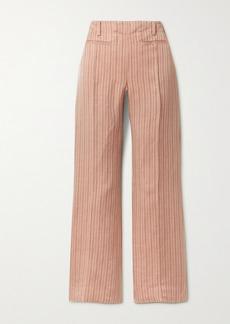Acne Studios Pinstriped Linen-blend Twill Bootcut Pants