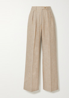 Acne Studios Pleated Checked Cotton-blend Pants