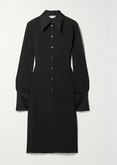 Acne Studios Satin-trimmed Crepe Shirt Dress