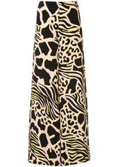 Adam Lippes abstract-print silk palazzo pants