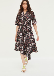 Adam Lippes Asymmetrical Dress In Printed Poplin