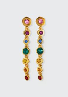 Adam Lippes Crystal Multi-Drop Earrings