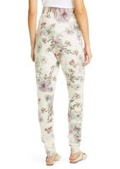 Adam Lippes Floral Print Cashmere & Silk Sweatpants