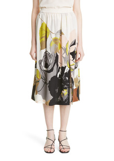 Adam Lippes Floral Silk Skirt