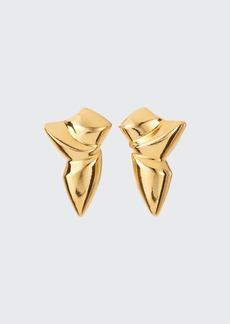 Adam Lippes Folded Stud Earrings