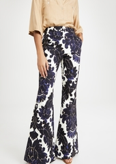 Adam Lippes High Waist Fitted Flare Pants