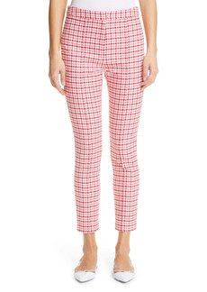 Adam Lippes Houndstooth Jacquard Crop Cigarette Pants