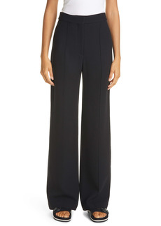 Adam Lippes Pintuck Wide Leg Wool Pants